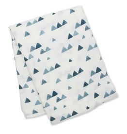 Swaddle Blanket- Navy Triangles