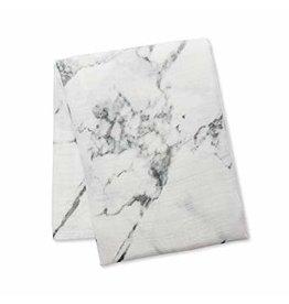Lulujo Swaddle Blanket, Marble