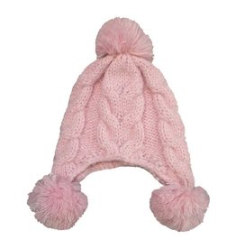 Huggalugs Angora Fizz Pink Beanie 0-6M