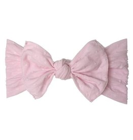 Baby Bling Bows Patterned Shabby Knot : Light Pink Dot