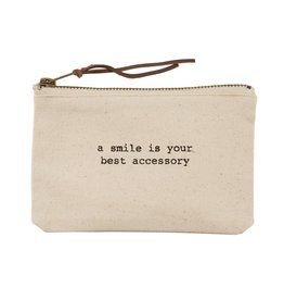 Mud Pie Smile is best Canvas Pouch