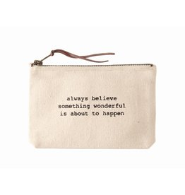 Mud Pie Something Wonderful Canvas Pouch