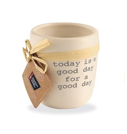 Mud Pie Today Is A Good Day For a Good Day Ceramic Candle