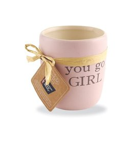 Mud Pie You Go Girl Ceramic Candle