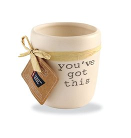 Mud Pie You've Got This Ceramic Candle