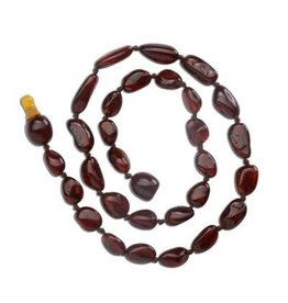 Cherished Moments Baltic Amber Polished Beads - Dark Cherry, Small