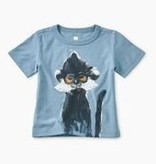 Tea Collection Langur Baby Graphic Tee - Blue Tide