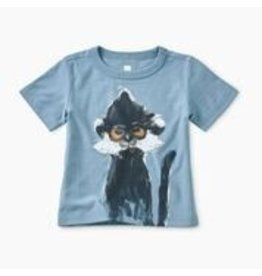 Tea Collection Baby Boy Langur Graphic Tee - Blue Tide