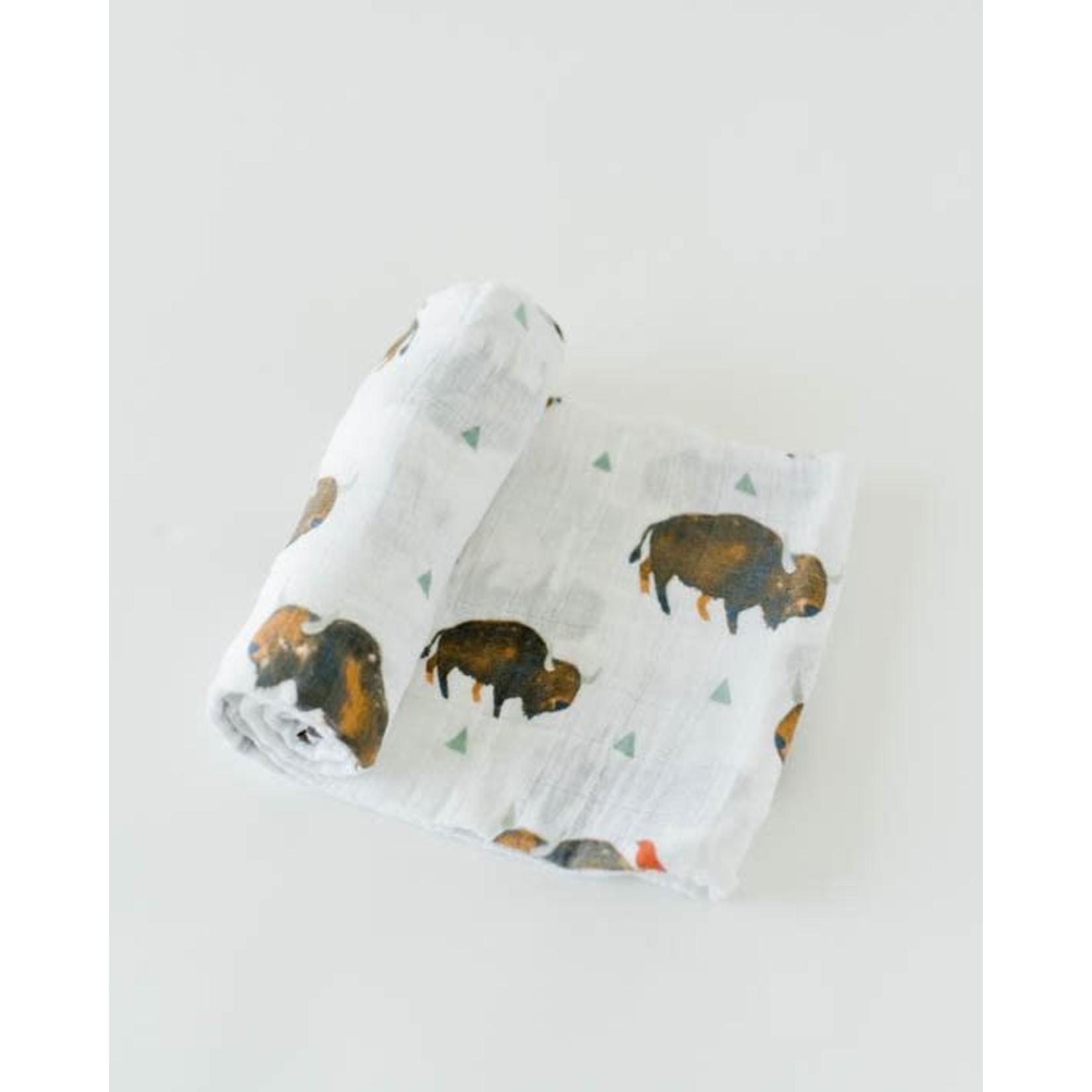 Little Unicorn Cotton Swaddle - Bison