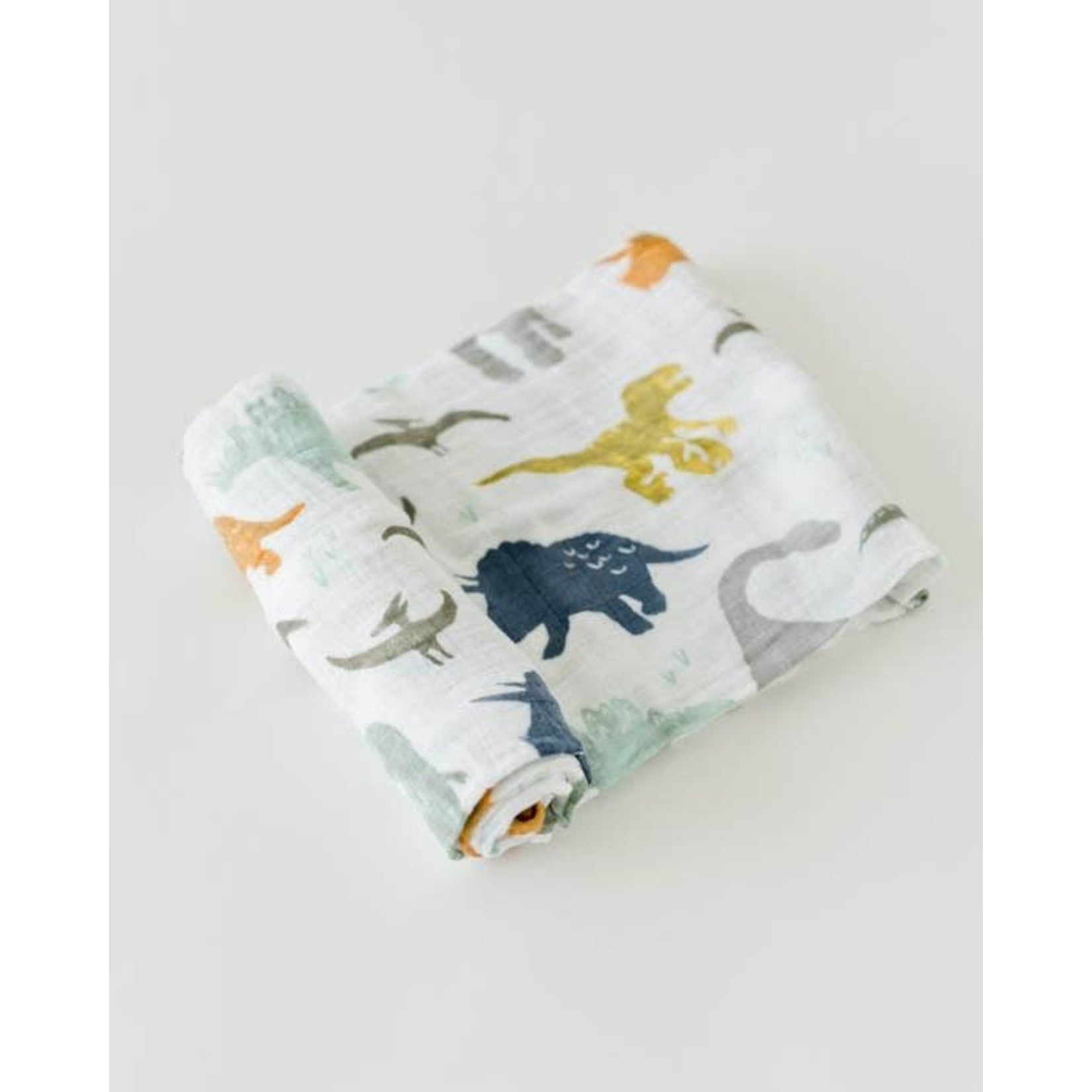 Little Unicorn Cotton Swaddle - Dino Friends