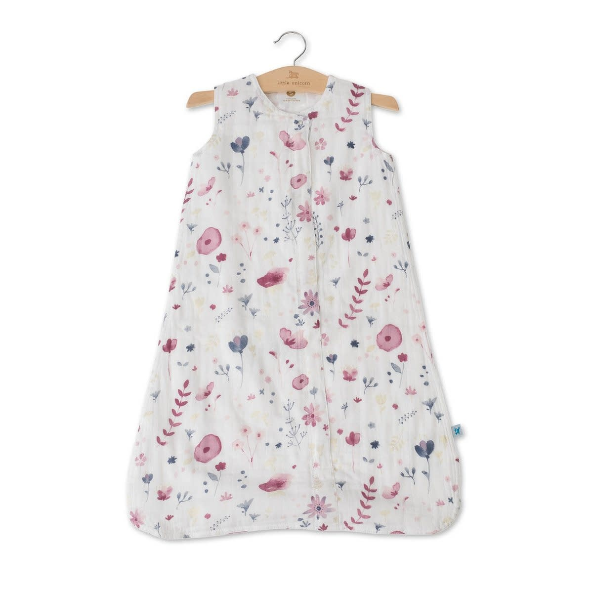 Little Unicorn Cotton Muslin Sleep Bag Small - Fairy Garden