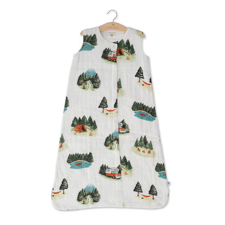 Little Unicorn Cotton Muslin Sleep Bag Small - Happy Camper
