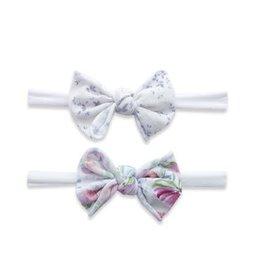 Baby Bling Bows 2pk Mini Print Skinny: Pink Pack