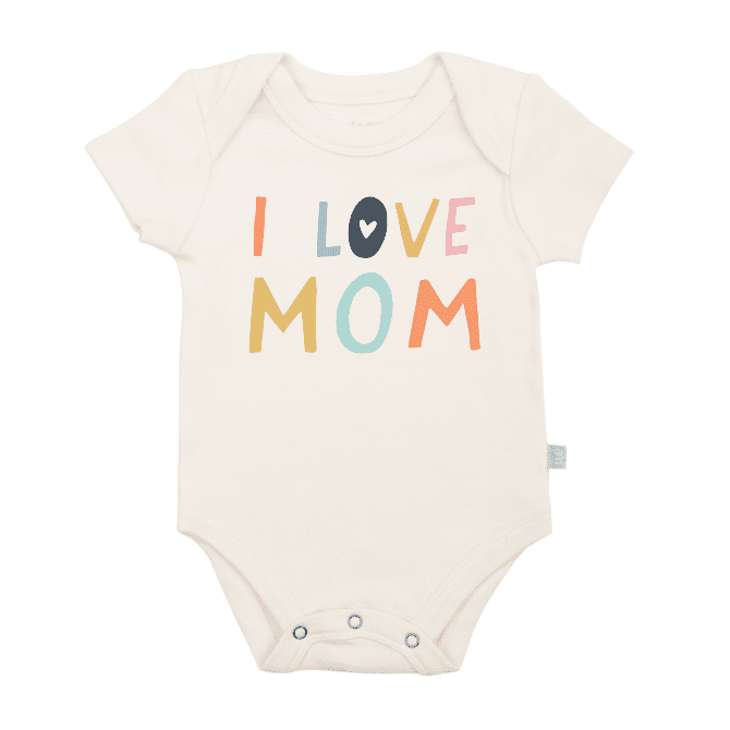 Finn + Emma Love Mom Graphic Bodysuit