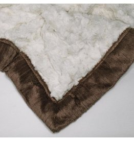 "Saranoni Mini Blanket (15"" x 20"") Ivory Gingersnap Swirl"