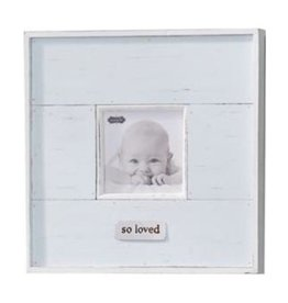 Mud Pie Blue So Loved Distressed Frame