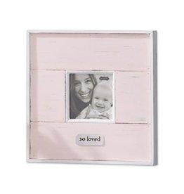 Mud Pie Pink So Loved Distressed Frame