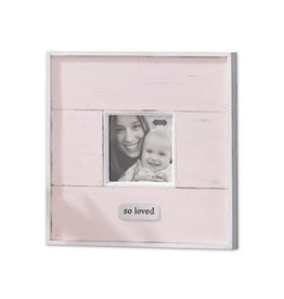 Mud Pie Pink So Loved Distressed Frame