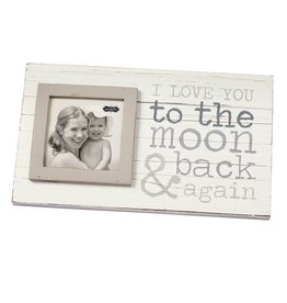 Mud Pie To The Moon Planked Horizon Frame