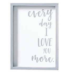Mud Pie Everyday I Love You Plaque