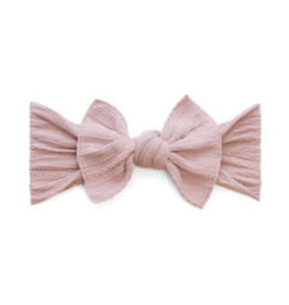 Baby Bling Bows Cable Knit Knot - Mauve