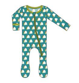 Kickee Pants Print Footie with Zipper Seagrass Tacos 18-24M