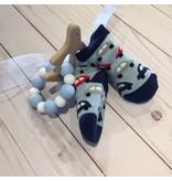 Mud Pie Bug Socks & Blue Bunny Teether