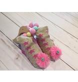 Mud Pie Glitter Sock & Birdie Pink Teether