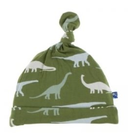 Kickee Pants Basic Knot Hat Moss Sauropods