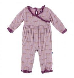 Kickee Pants Print L/S Kimono Ruffle Romper Cooksonia