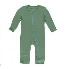 Kickee Pants Solid Coverall with Zipper Shore