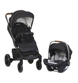 Nuna Nuna TAVO Stroller and Pipa Lite Travel System (FR Free, Brown Handle) - Caviar
