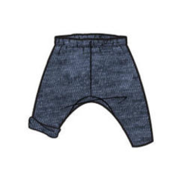 Tea Collection Dropped Gusset Pant - Indigo