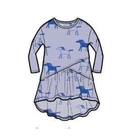 Tea Collection Printed Asymmetrical Wrap Dress - Highland Horses