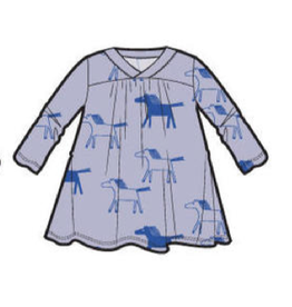 Tea Collection Printed Wrap Neck Baby Dress - Highland Horses
