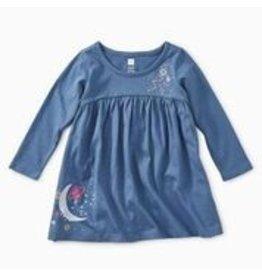 Tea Collection Celestial Dreams Graphic Dress - Cobalt 6-9m