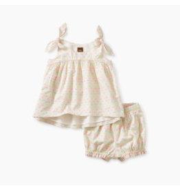 Tea Collection Hi-Lo Tie Shoulder Baby Set - Confetti Swiss 12-18M