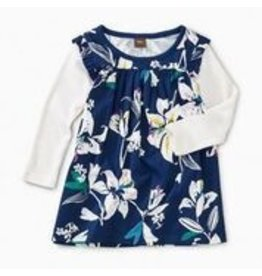 Tea Collection Layered Sleeve Baby Mighty Mini - Tropical Lillies 6-9m