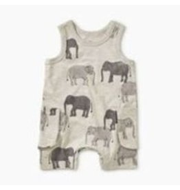 Tea Collection Patterned Tank Romper - Tons of Trunks  6-9M