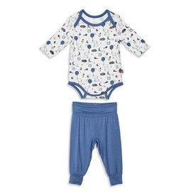 Magnetic Me Blue Skylark Modal Magnetic Bodysuit + Harem Pant