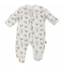Magnetic Me Silly Sloth Organic Cotton Magnetic Footie NB