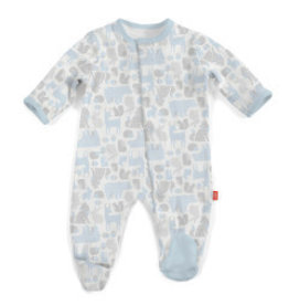 Magnetic Me Blue Enchanted Forest Magnetic Footie Newborn
