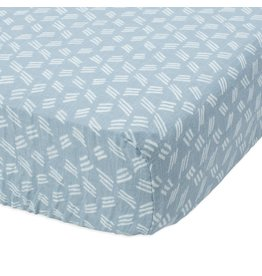 Little Unicorn Cotton Muslin Crib Sheet - Blue Grass