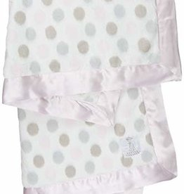 Little Giraffe Luxe Dot Blanky - Pink