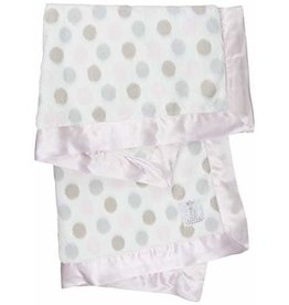 Little Giraffe Luxe Dot Blanky - Pink