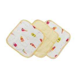 Lou Lou Lollipop Washcloth 3-pieces Set - Ice Cream Social