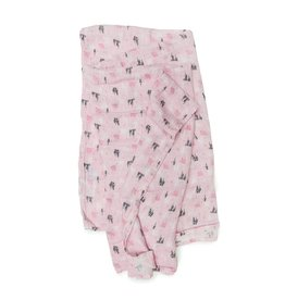 Lou Lou Lollipop Bamboo Swaddle - Pink Castle