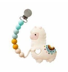 Lou Lou Lollipop Silicone Teether Set - Llama