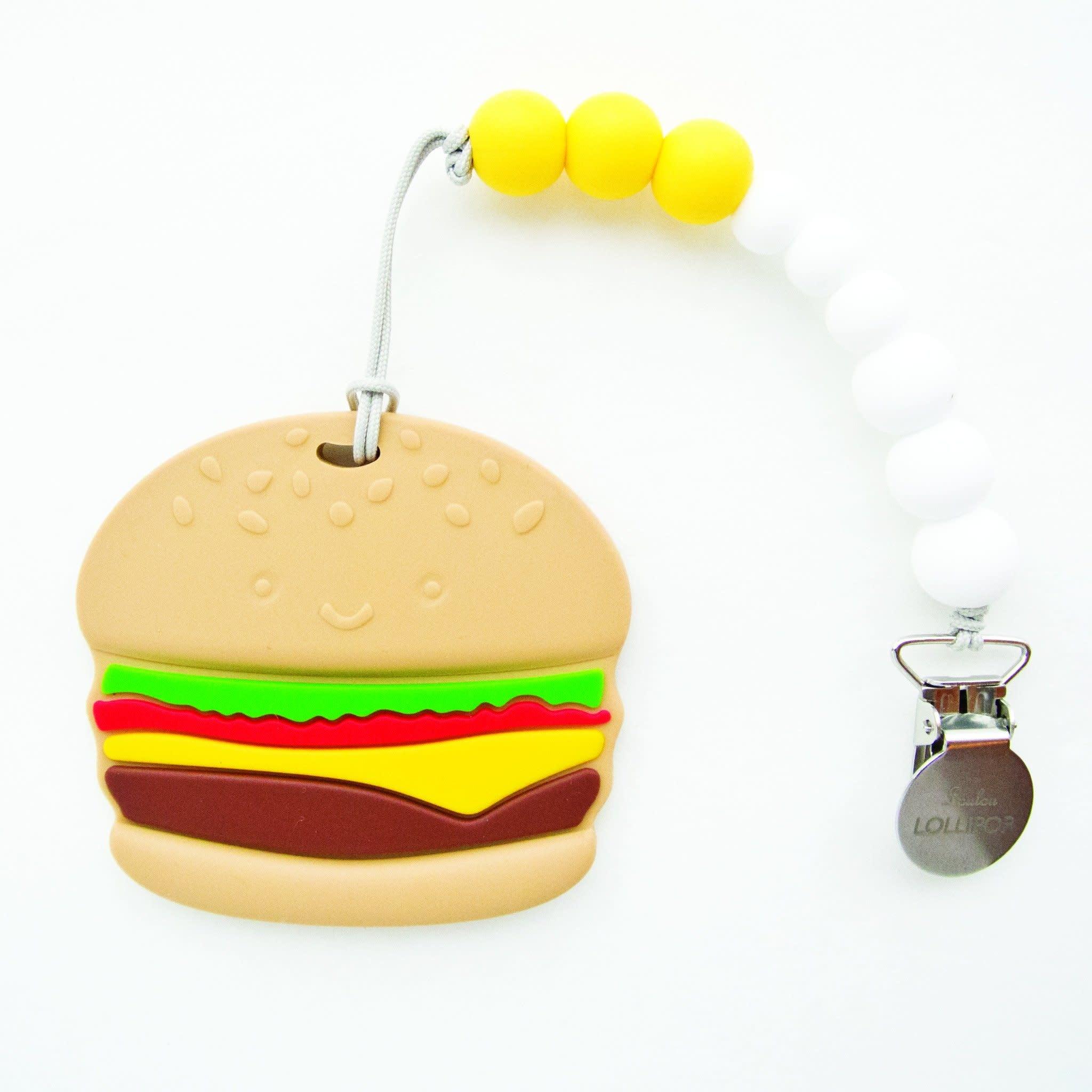 Lou Lou Lollipop Silicone Teether Set - Burger