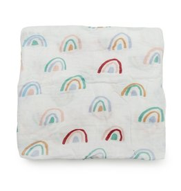 Lou Lou Lollipop Bamboo Swaddle - Llama Rainbow
